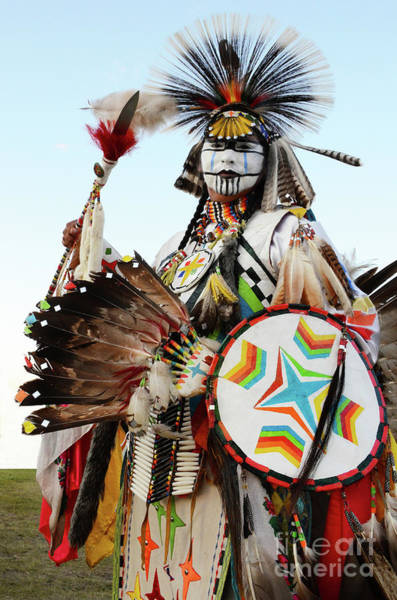 Beading Photograph - Indigenous People Canada 1 by Bob Christopher
