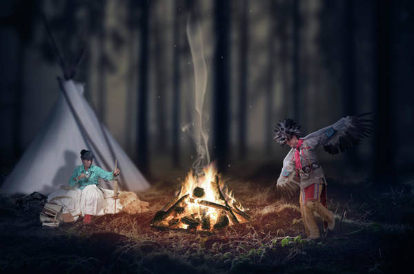 Wall Art - Digital Art - Indigenous Peoples Of The Americas by Aged Pixel
