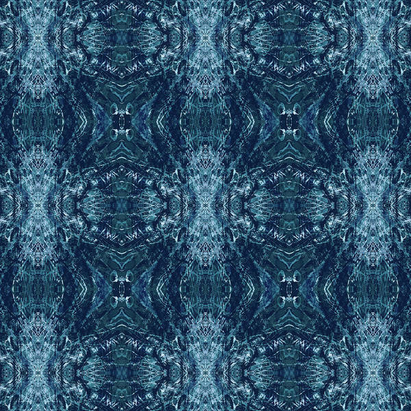 Mixed Media - Indigo Batik Pattern by Kristin Doner