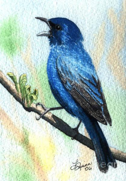 Painting - Indigo Bunting by Lynn Quinn