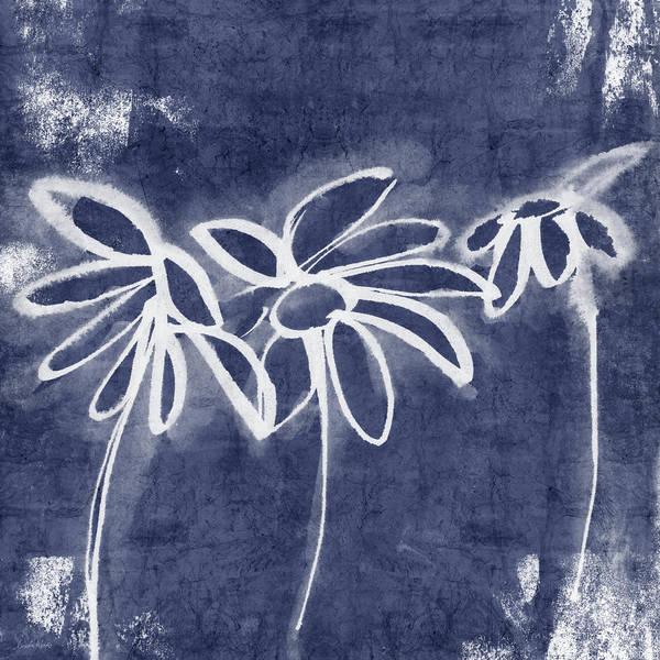 Painting - Indigo Floral 1- Art By Linda Woods by Linda Woods