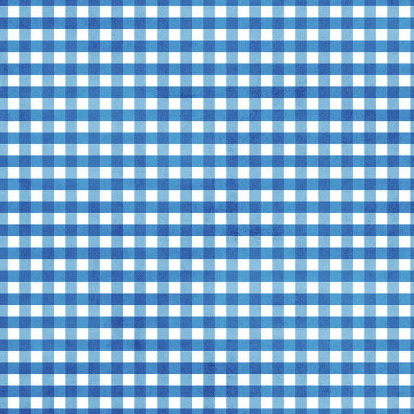 Wall Art - Digital Art - Indigo Gingham- Design By Linda Woods by Linda Woods