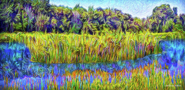 Digital Art - Indigo Lake Reflections by Joel Bruce Wallach