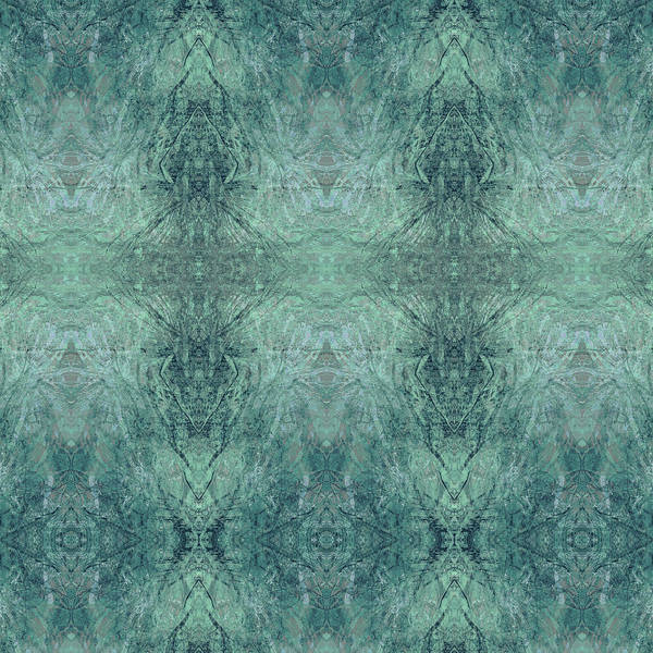 Digital Art - Indigo Lotus Lace Pattern 1 by Kristin Doner