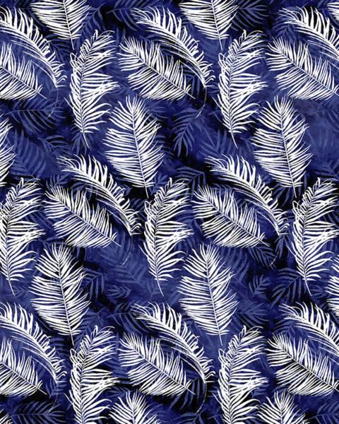 Palm Frond Digital Art - Indigo Palms by Tammy Wetzel