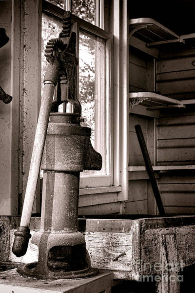 Hand Pump Photograph - Indoor Plumbing by Olivier Le Queinec