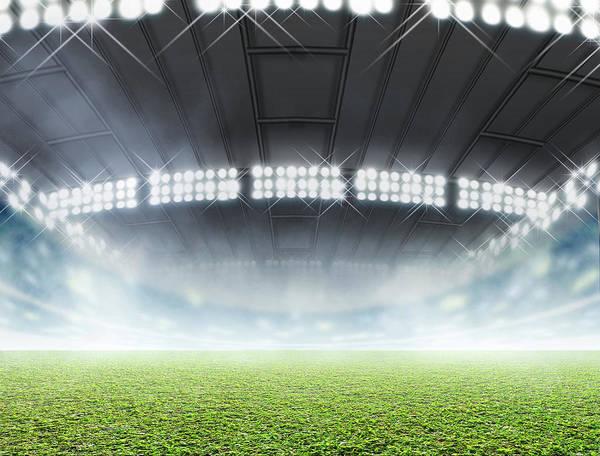 Playing Field Wall Art - Digital Art - Indoor Stadium Generic by Allan Swart