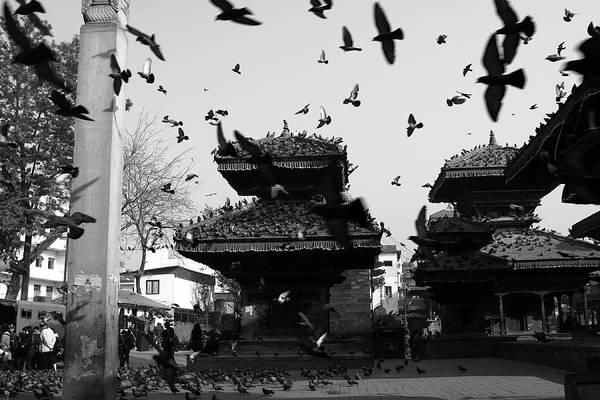 Photograph - Indrapur And Vishnu Temple, Durbar Square, Kathmandu by Aidan Moran