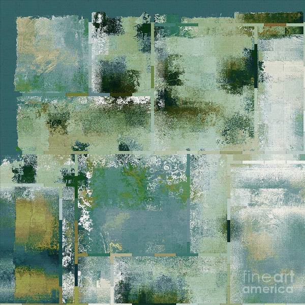 Turquoise Digital Art - Industrial Abstract - 17t by Variance Collections