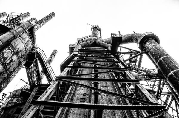 Photograph - Industrial Age - Bethlehem Steel In Black And White by Bill Cannon