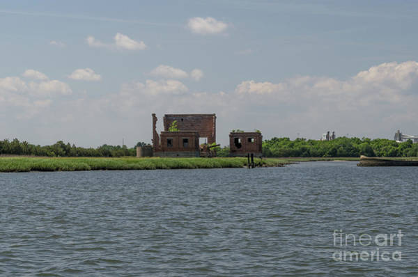Photograph - Industrial Banks Of The Charleston Harbor by Dale Powell