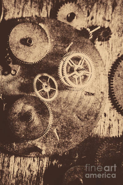 Heavy Photograph - Industrial Gears by Jorgo Photography - Wall Art Gallery