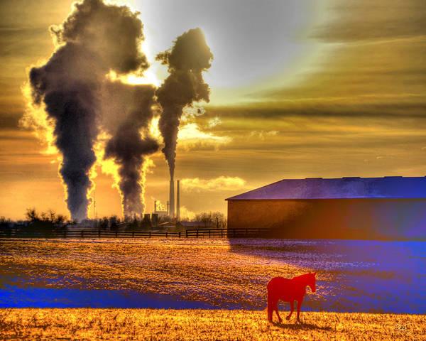 Photograph - Industrial Horse Age by Sam Davis Johnson