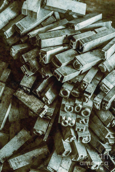 Block Photograph - Industrial Letterpress Typeset  by Jorgo Photography - Wall Art Gallery