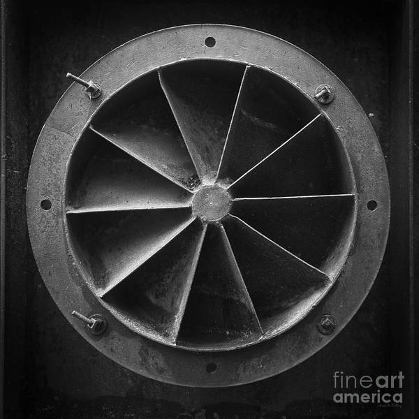 Photograph - Industrial Mining Equipment Black And White by Edward Fielding