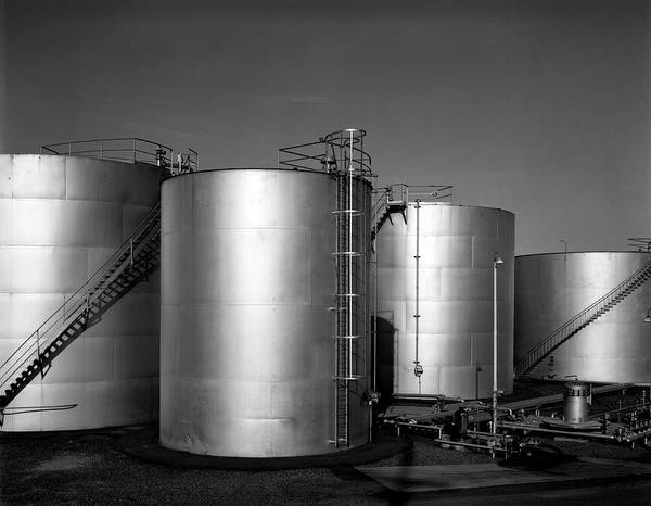 Photograph - Industrial Storage Tanks by Lee Santa