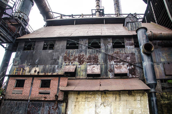 Photograph - Industrial - The Steel Mill In Bethlehem Pa by Bill Cannon