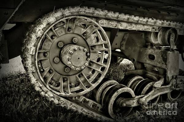 Chain Link Photograph - Industrial Tracks by Paul Ward
