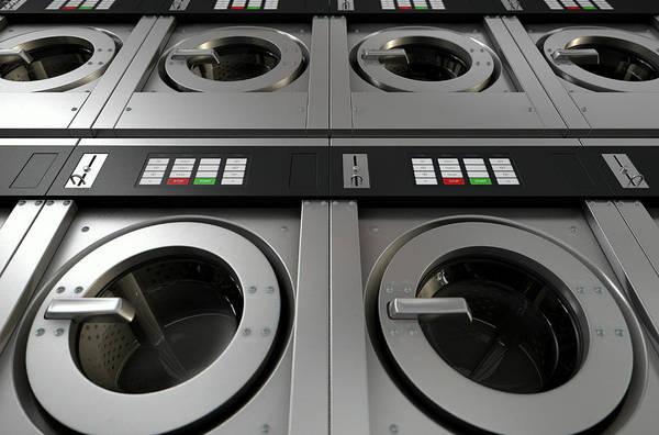 Commercial Digital Art - Industrial Washing Machine by Allan Swart