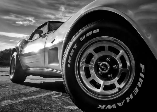 Photograph - Indy 500 Bw by Nathan Little