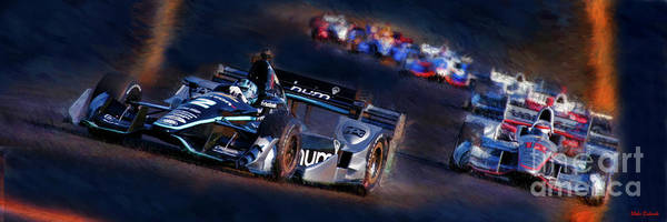 Photograph - Indy Cars Josef Newgarden Leads Will Power by Blake Richards