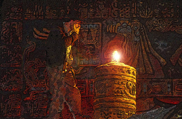 Steven Spielberg Painting - Indys Golden Idol by David Lee Thompson