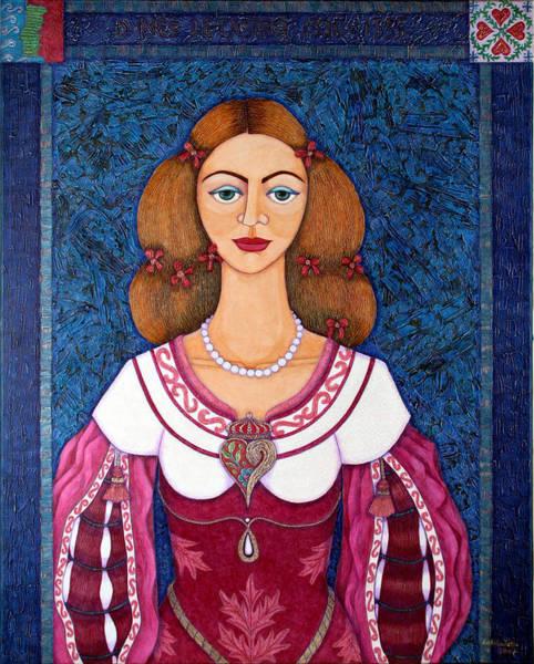 Acrilic Painting - Ines De Castro - The Love Crowned by Madalena Lobao-Tello