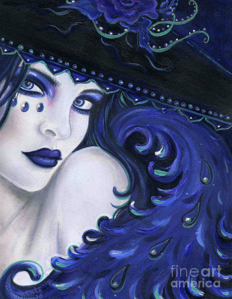 Boa Painting - Inez Wicked Wish Witch by Renee Lavoie