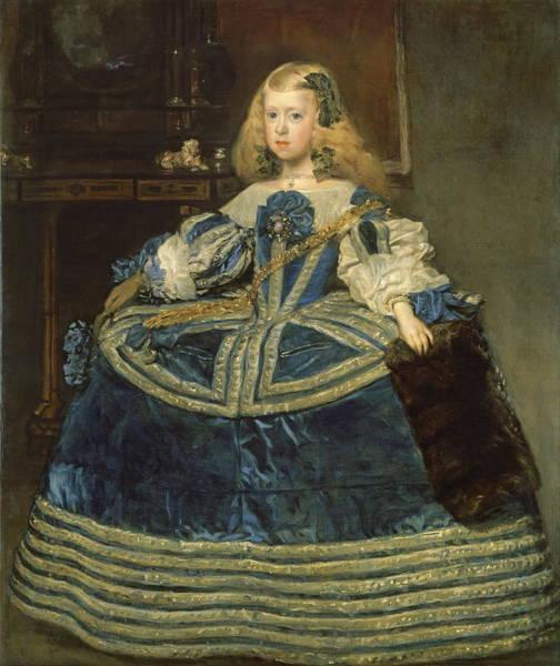Velazquez Wall Art - Painting - Infanta Margarita Teresa In A Blue Dress by Velazquez