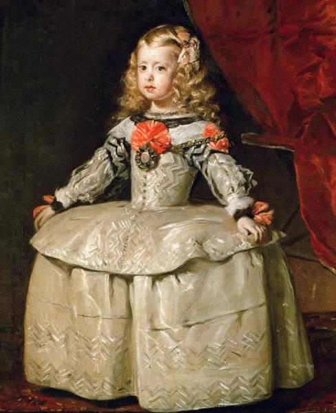 Velazquez Wall Art - Painting - Infanta Margarita Teresa In A White Dress by Diego Velazquez