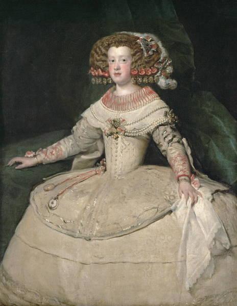 Velazquez Wall Art - Painting - Infanta Maria Teresa by Velazquez