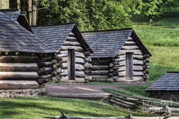 Continental Army Photograph - Infantry Cabins At Valley Forge by John Greim