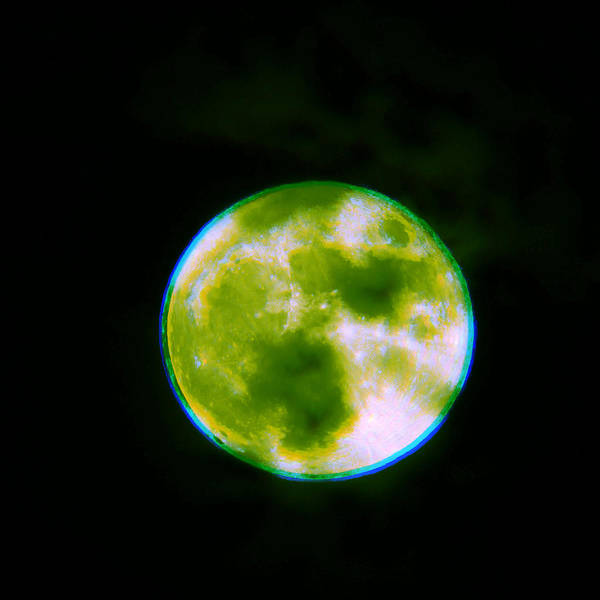 Photograph - Infected Super Moon by Robert Knight