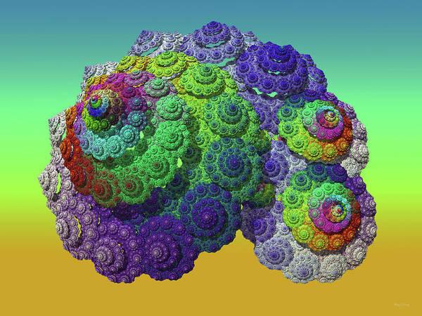 Nautical Digital Art - Infinite Inspiration Spiral by Betsy Knapp