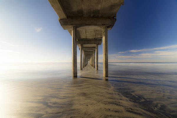Scripps Pier Photograph - Infinity by Peter Irwindale
