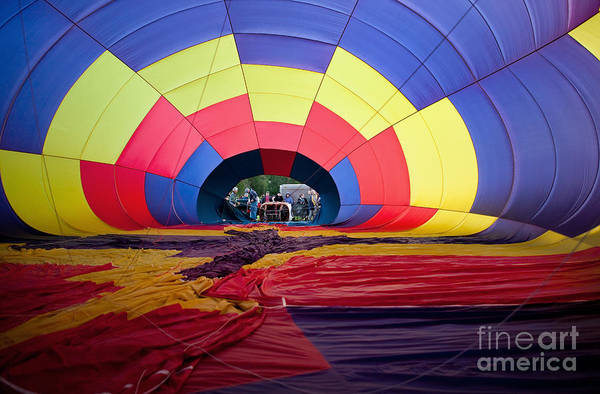 Photograph - Inflating Hot Air Balloon by Bryan Mullennix