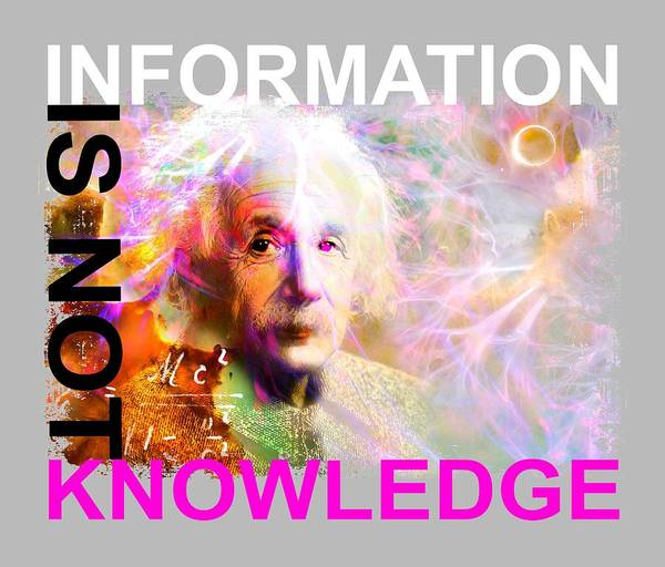 Quantum Digital Art - Information Is Not Knowledge by Mal Bray