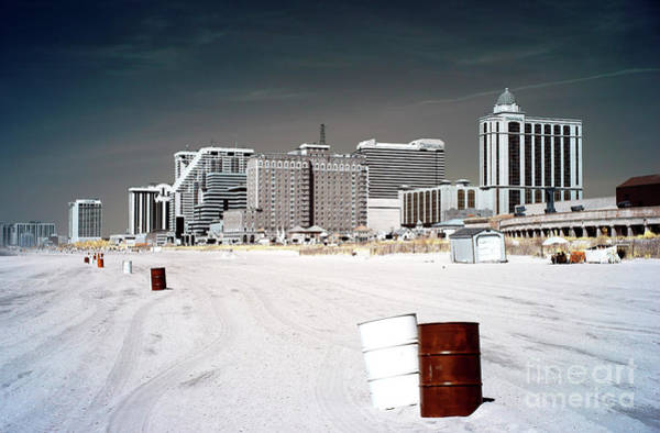 Photograph - Infrared Beach Cans by John Rizzuto