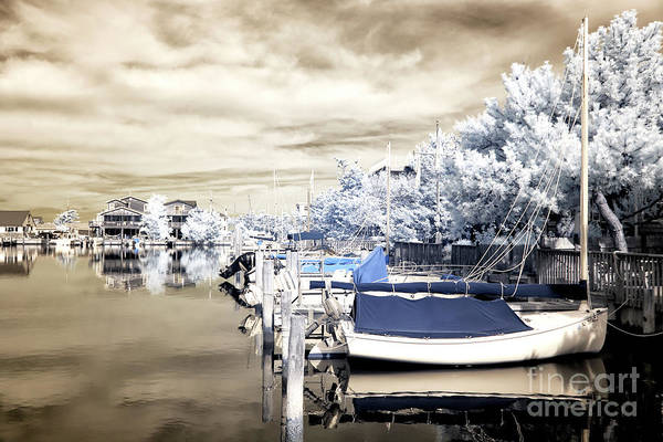 Photograph - Infrared Boats Docked At Long Beach Island by John Rizzuto