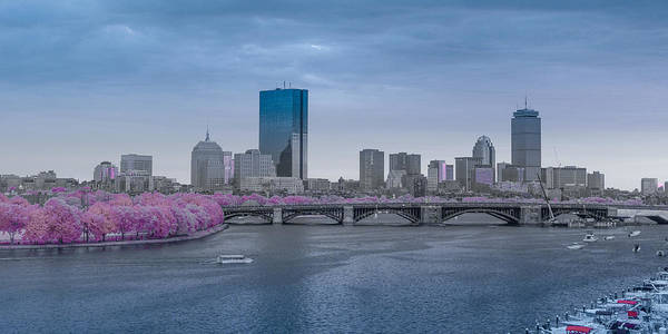 Infrared Boston Art Print