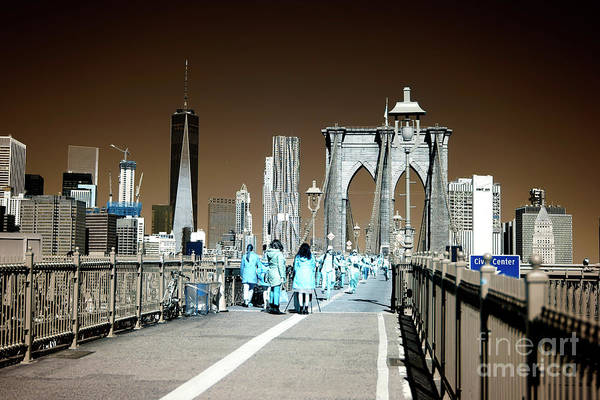 Wall Art - Photograph - Infrared Bridge Walkers by John Rizzuto