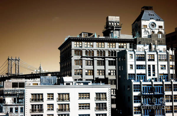 Photograph - Infrared Dumbo Buildings by John Rizzuto