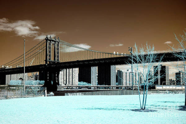 Photograph - Infrared Empire Fulton Ferry by John Rizzuto