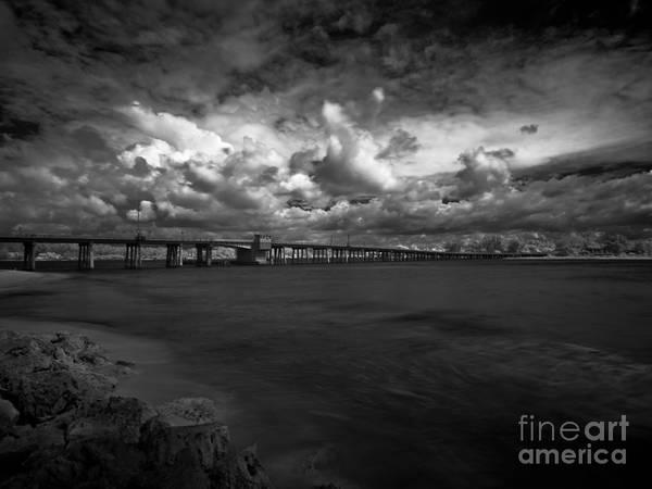Infrared Longboat Pass Bridge Art Print