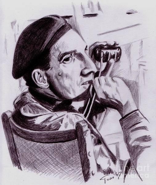 Drawing - Ingmar Bergman by Toon De Zwart