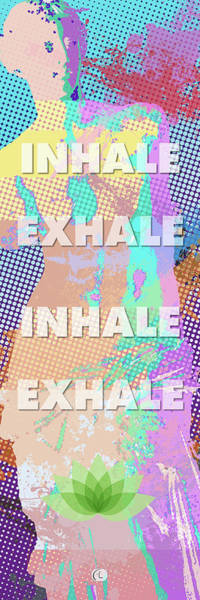 Wall Art - Digital Art - Inhale Exhale by George Lacy