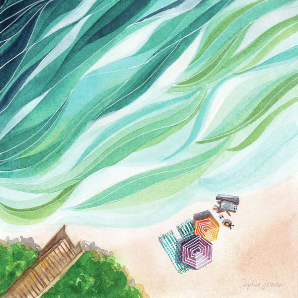 Beach Painting - Inhale, Exhale by Stephie Jones
