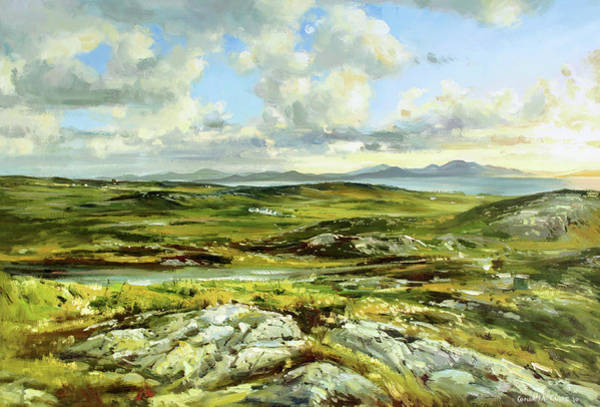 Donegal Painting - Inishowen Penninsula by Conor McGuire