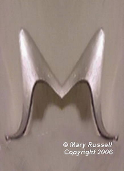 Digital Art - Initial Pin Or Pendant by Mary Russell