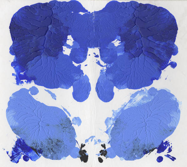 Painting - Ink Blot Blue by Erik Paul